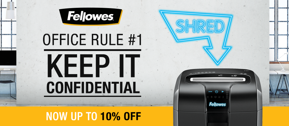 Up to 10% off Fellowes Shredders