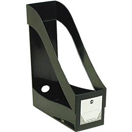 MARBIG ENVIRO MAGAZINE HOLDER STACKING BLACK