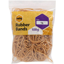 MARBIG RUBBER BANDS NO.18 100G