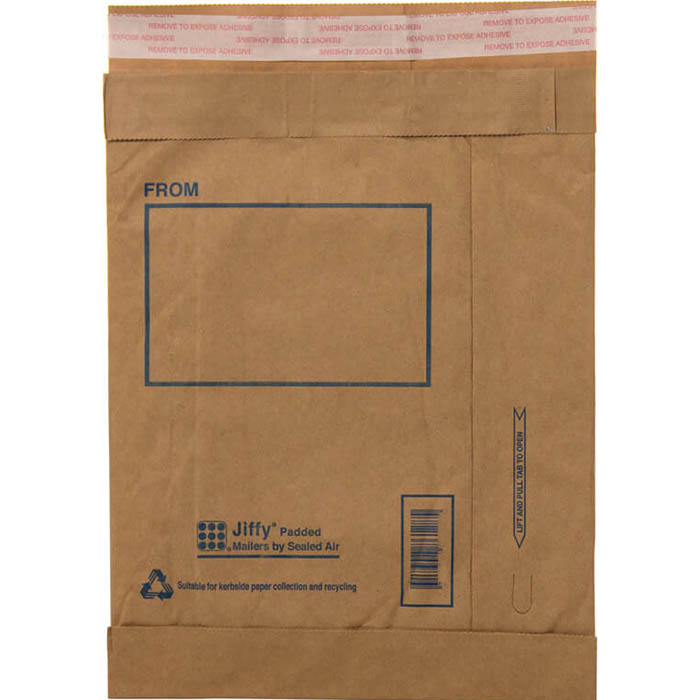 JIFFY PADDED SELF-SEAL MAILER P5 265 X 380MM BOX 100