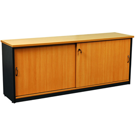 OXLEY CREDENZA 1500 X 450 X 730MM BEECH/IRONSTONE